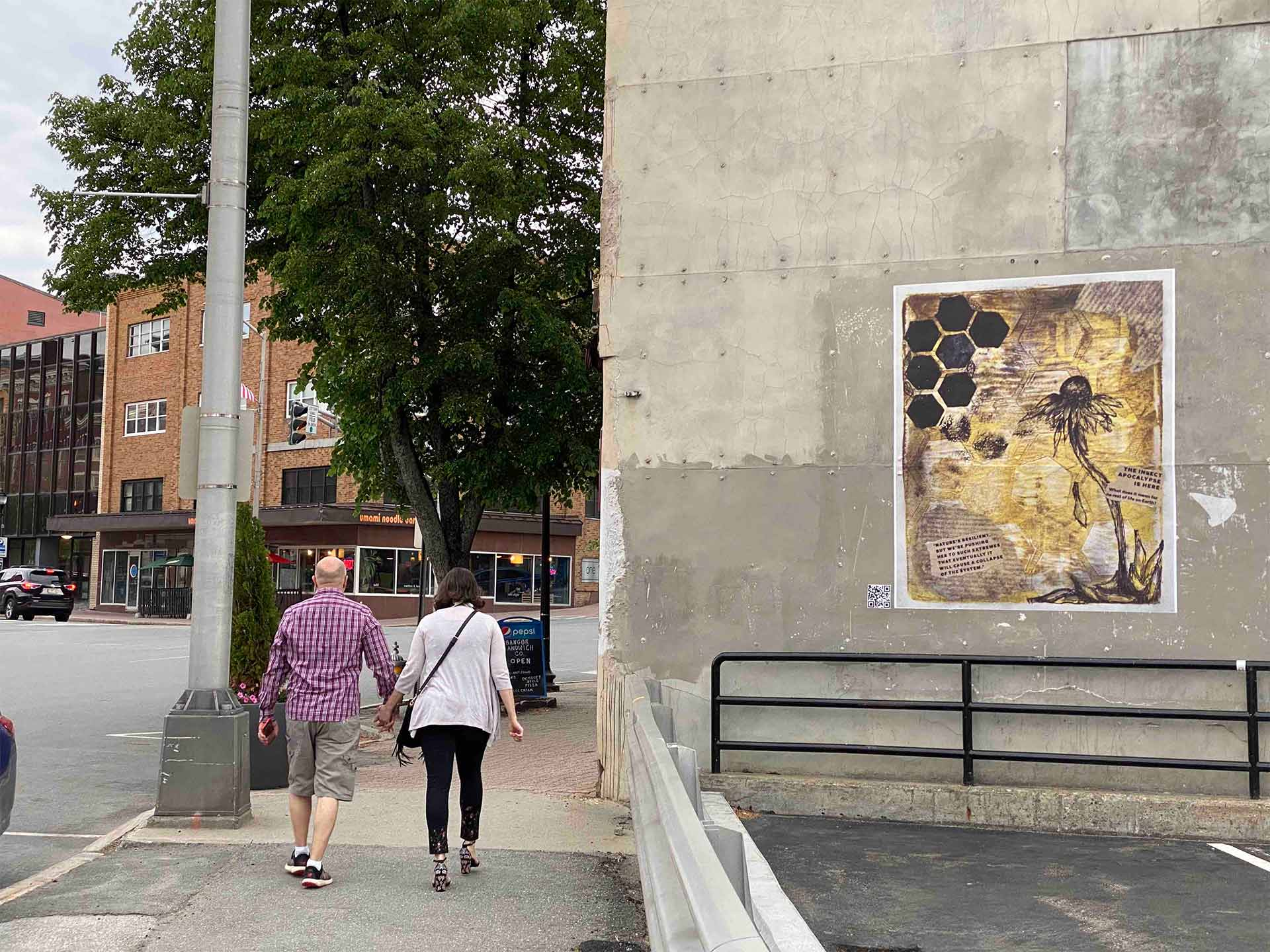 Downtown Bangor Wheatpaste Mural Project